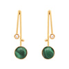 Malachite and pearl drop earrings