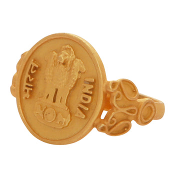 Gold antique coin ring