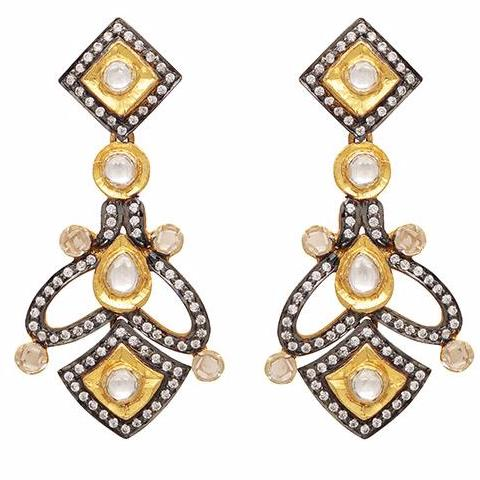 Heritage gold and crystal earrings