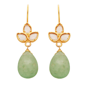 Delicate aventurine and crystal drops