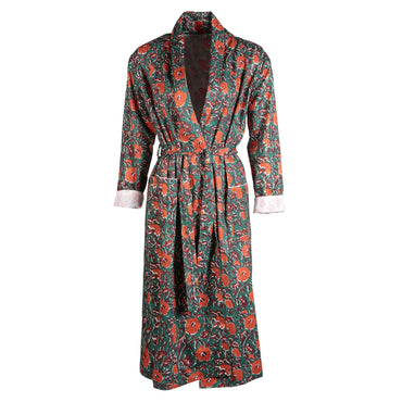 Red Poppies Dressing Gown