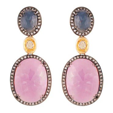 Sapphire statement heirloom earrings