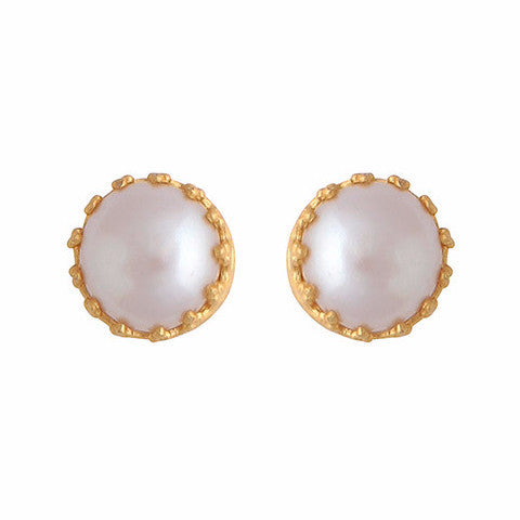 Gold and pearl studs