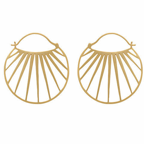 Gold sunbeam hoops