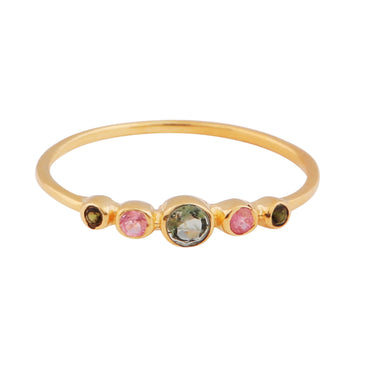 Gold vermeil delicate tourmaline band