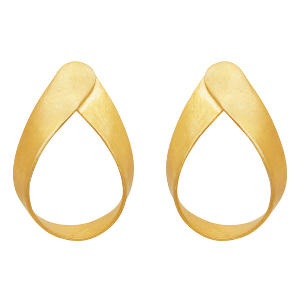 Mini gold fold earrings