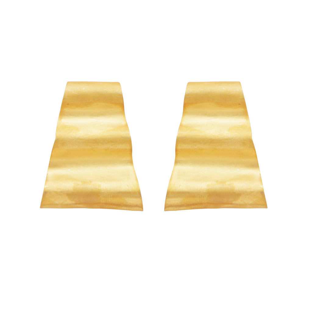 Small gold layered earrings