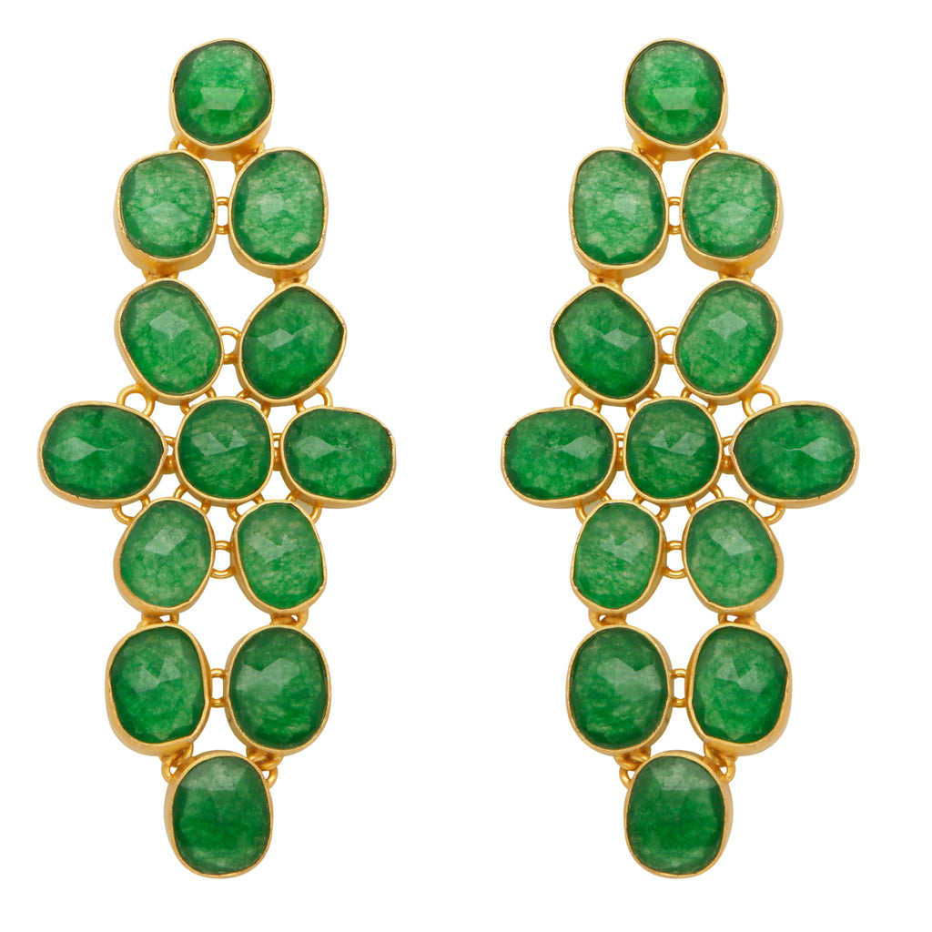 Aventurine statement earrings