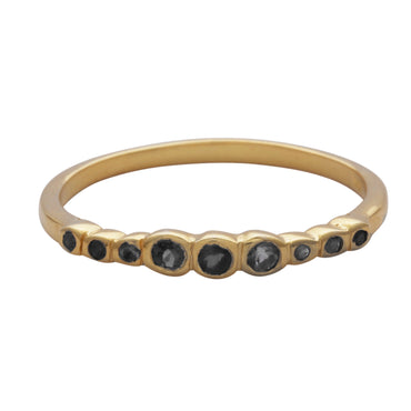 Gold vermeil multi black onyx stacking ring