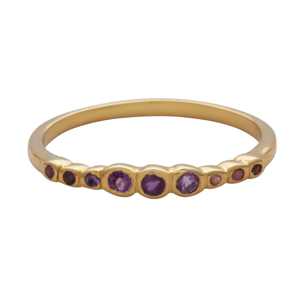 Multi amethyst stacking ring