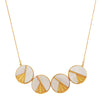 Mother of pearl deco necklace