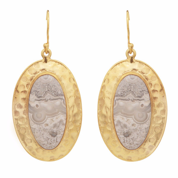 Jasper antique earrings