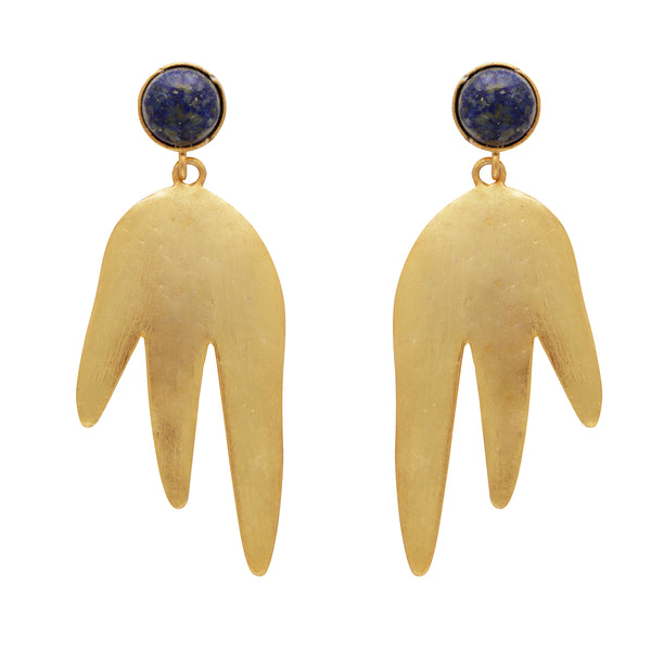 Blue lapis magma earrings