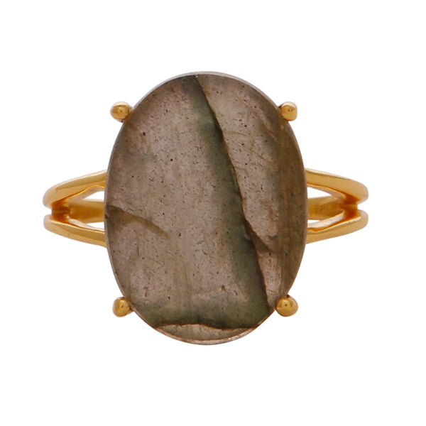 Elegant labradorite cocktail ring