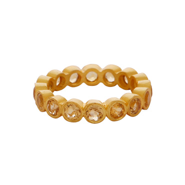 Gold vermeil citrine gemstone band