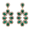 Emerald corundum and gold statement earrings