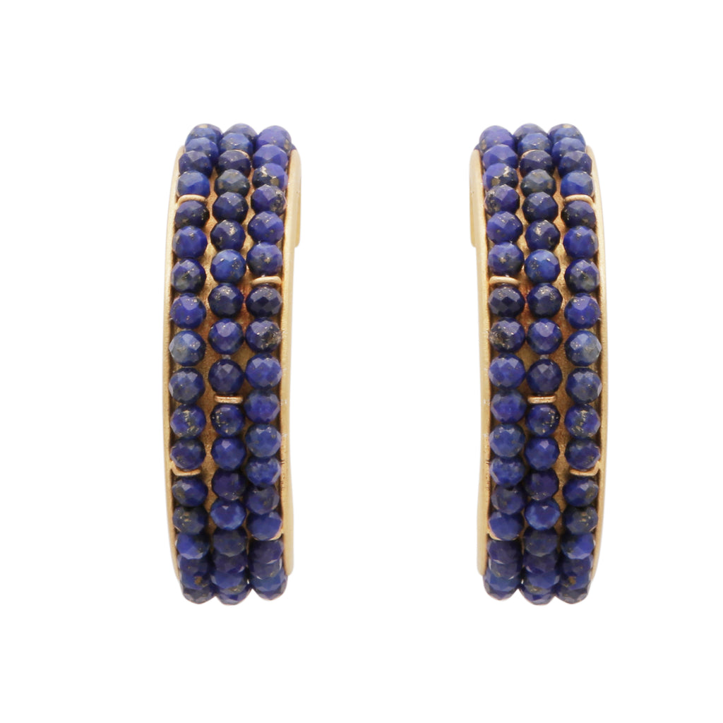 Lapis large hoops