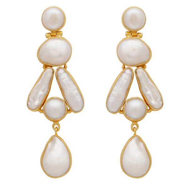 Mother of pearl statement earrings