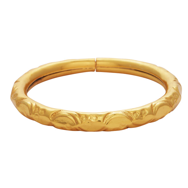 Simple gold curve bangle