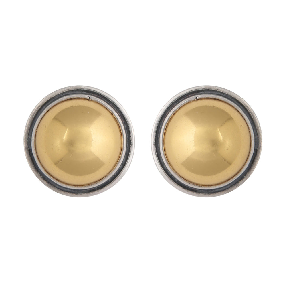 Gold and silver mix studs
