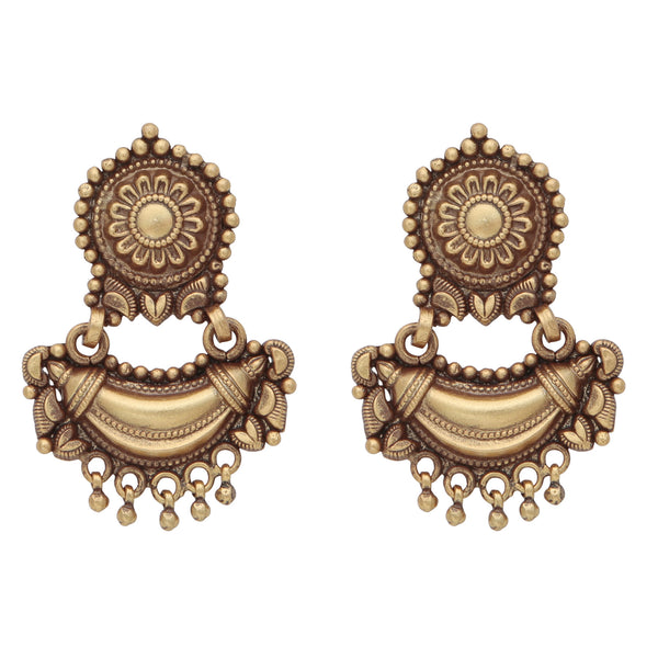 Antique finish heritage earrings