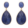Dyed sapphire double drop earrings