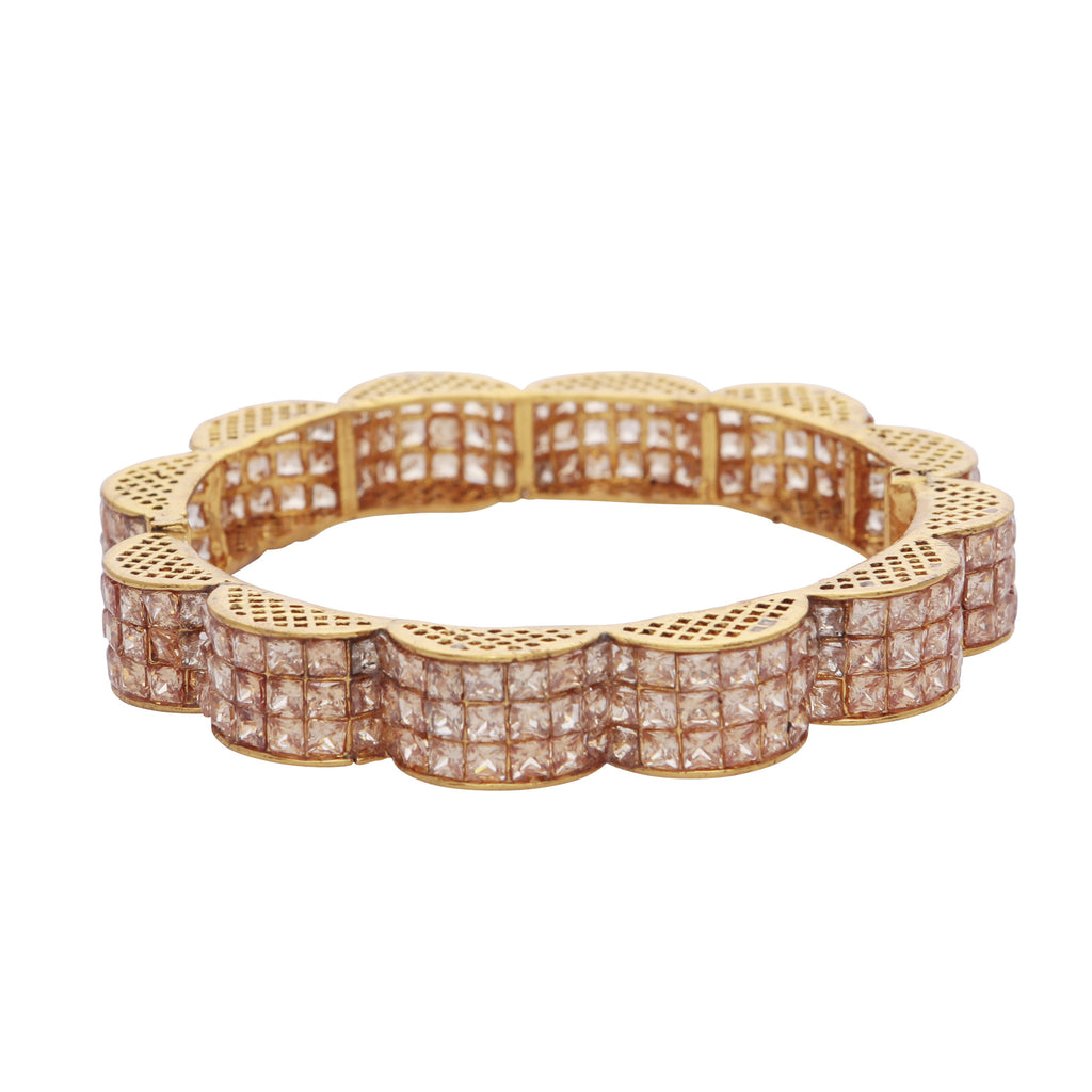 Crystal curved bangle