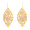 Gold and sliced crystal statement earrings