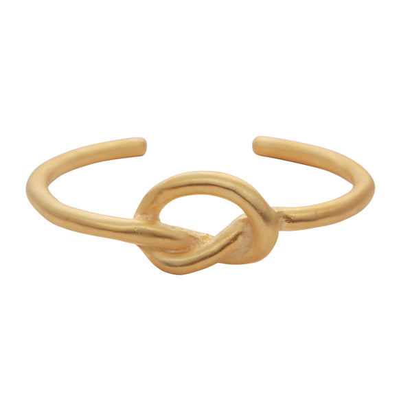 Gold knot bangle