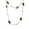 Jasper and green onyx long necklace