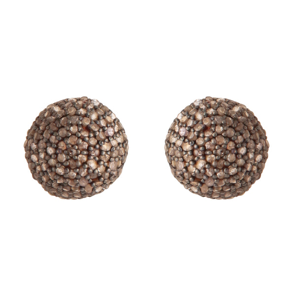 Dome rosecut diamond studs