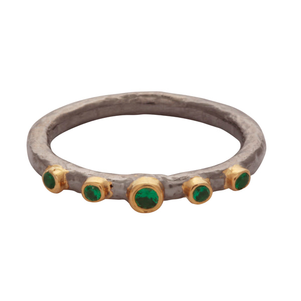 Green onyx antique style band