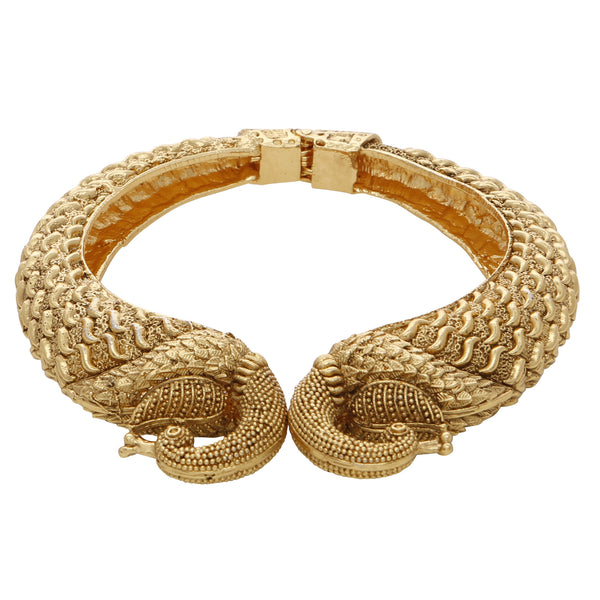 Gold peacock bangle