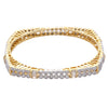 Square crystal and gold bangle