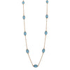 Blue topaz gemstone necklace