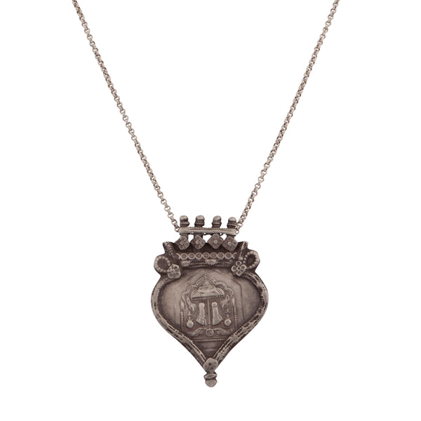 Antique family crest pendant