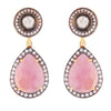Pink sapphire heirloom earrings