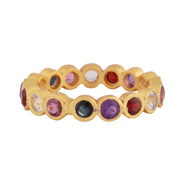 Multi gemstone stones delicate band
