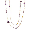 Amethyst and gold ball gemstone necklace