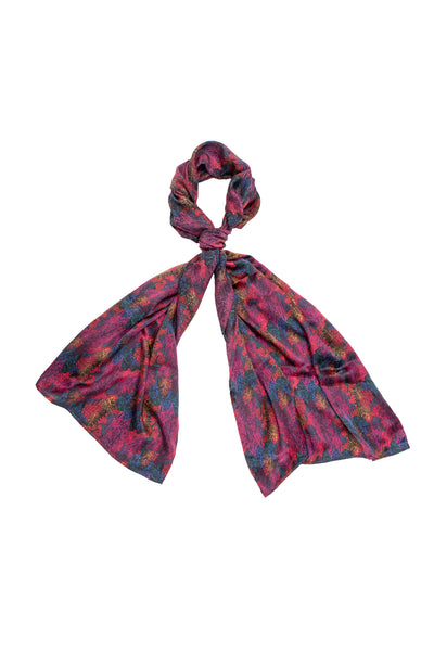 Autumn in Fuchsia Scarf