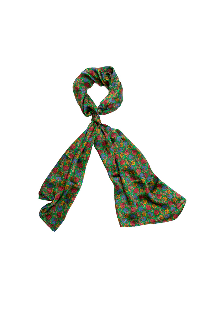 Berry Green Scarf