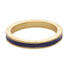 Blue enamel stacking band