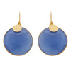 Blue quartz disc earrings