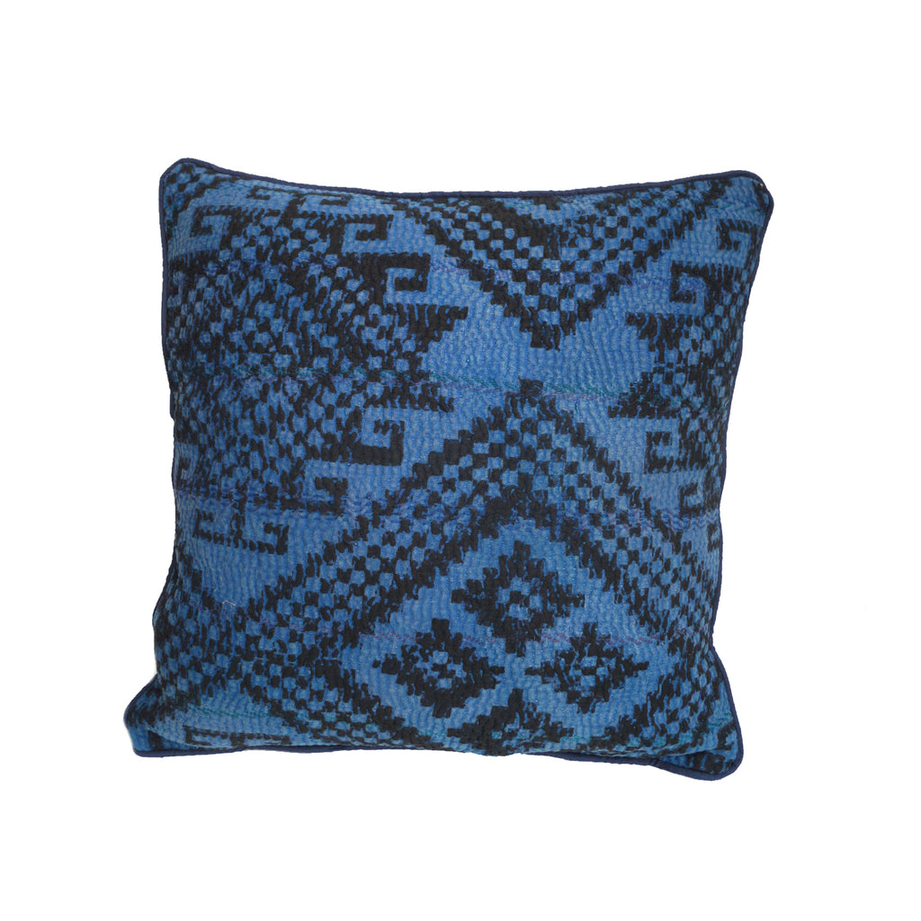 Abstract blue and black cushion