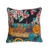 Abstract vintage fabric luxury cushion - design 1