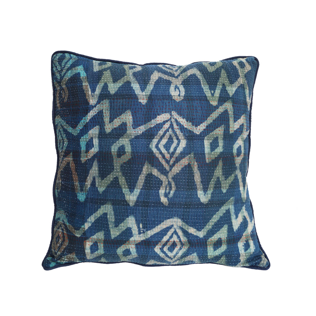 Abstract ikat luxury cushion - design 2