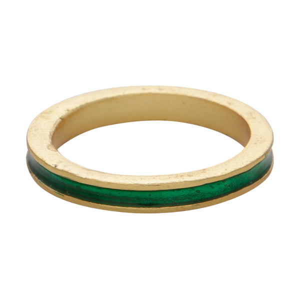 Green enamel stacking band