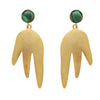 Malachite magma earrings