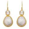 Mother of pearl and topaz drops