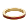 Red enamel stacking band